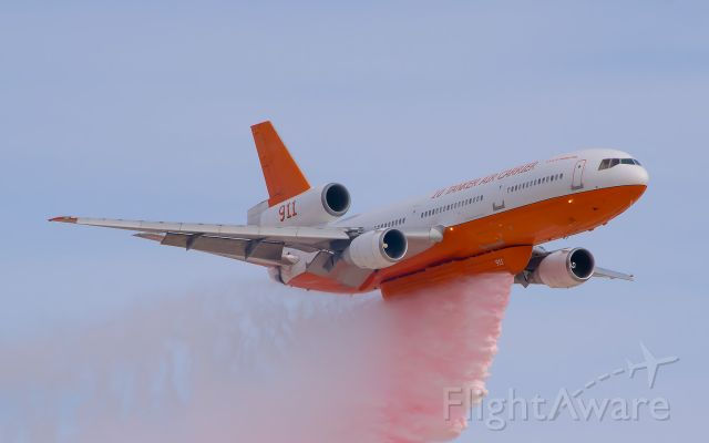 McDonnell Douglas DC-10 (N17085) - Aviation Nation 2016/Water Drop Demonstrationbr /br /During the Air Tankers second pass, the actual water drop occurred