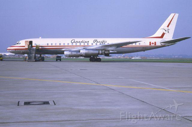McDonnell Douglas Jet Trader (C-FCPG) - Canadian Pacific DC-8-43 CF-CPG in November 1968 at Düsseldorf (EDDL)