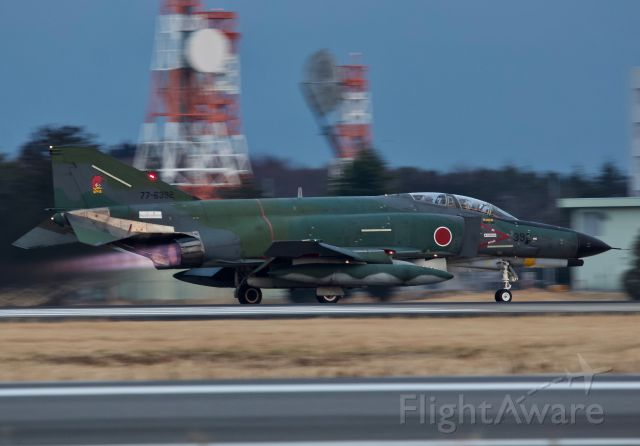 """McDonnell Douglas F-4 Phantom 2 (77-6392) - RF-4EJ of the 501st Tactical Reconnaissance Squadron departing Hyakuri Air Base for an evening sortie (please view in """"full"""" for highest image quality)"""