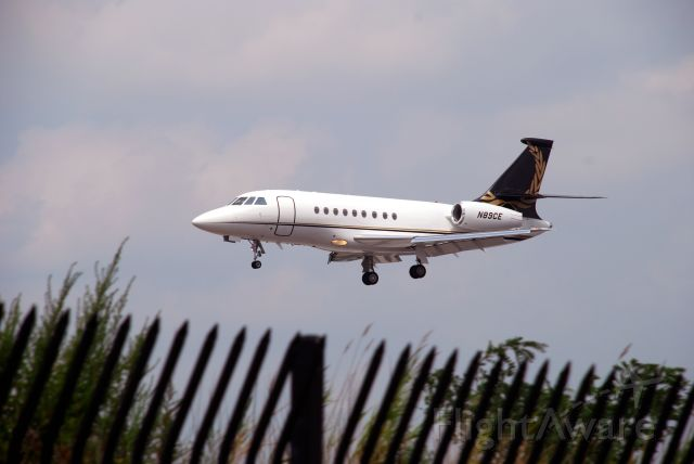 Dassault Falcon 2000 (N89CE) - Falcon Jet landing at TEB August 4, 2010