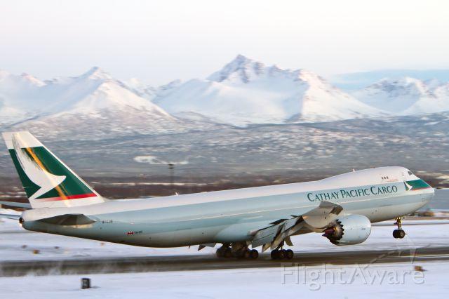 BOEING 747-8 (B-LJB) - Landing at PANC