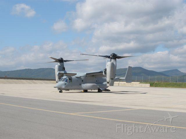 Bell V-22 Osprey (CRK21) - Pax.River Naval test Station V-22 that stopped in for fuel on 10/21//2008