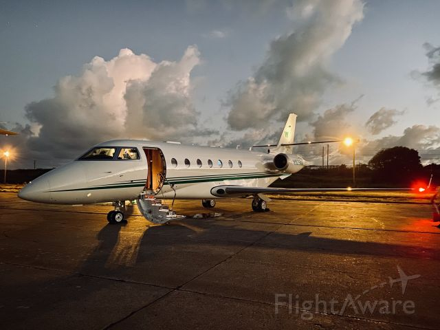 IAI Gulfstream G200 (N929AW) - Sunset in the Caribean