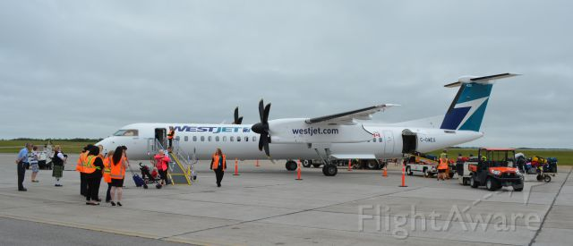 — — - WestJet Encore at CYQY offers year round service between Sydney YQY and Halifax, YHZ and seasonal direct service between Sydney YQY and Toronto YYZ