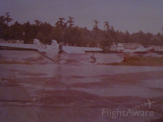 McKinnon Turbo Goose (N121H) - 2 McKinnon G-21T Super Gooses at Westwego Airport. Haliburton N121H  and Chevron N70AL