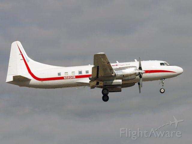 CONVAIR CV-580 (N580HW) - A Convair with turbo prop engines.