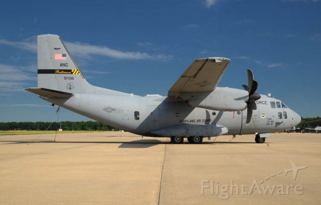 ALENIA Spartan (C-27J) (09-2716) - Photographed on a beautiful July day at Martin State Airport.