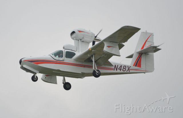 LAKE LA-200 (N48X) - Final approach to RW 36 at Oshkosh Airventure 2018 on Sunday.