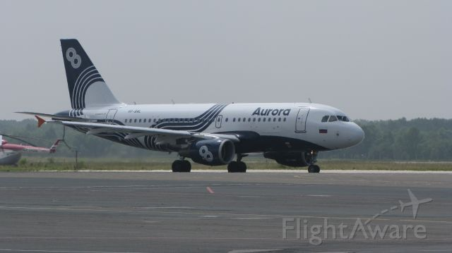 Airbus A319 (VP-BWL) - Caught this shot as I was leaving the airport spotter fence