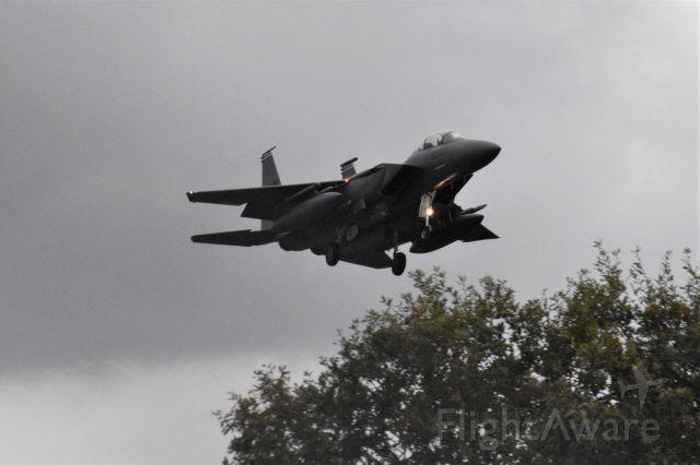 McDonnell Douglas F-15 Eagle — - Lakenheath  landing on runway 24