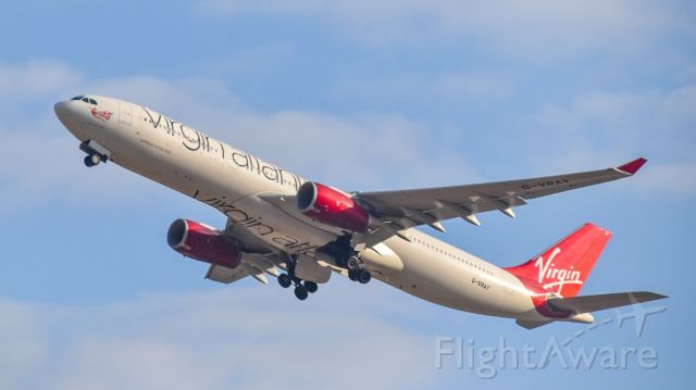 Airbus A330-300 (G-VRAY) - virgin atlantic departing TLV in the early morning