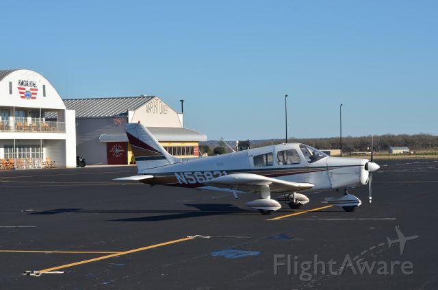 Piper Cherokee (N56821) - Parked outside of the Hangar Hotel, Fredericksburg, TX