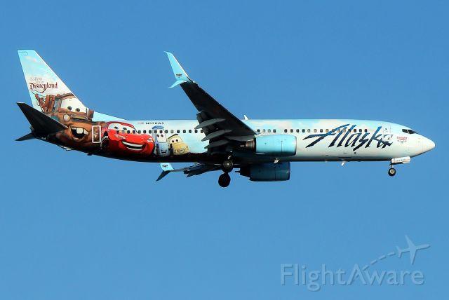 Boeing 737-800 (N570AS) - Alaskas Adventures of Disneyland Resort livery arriving from Portland