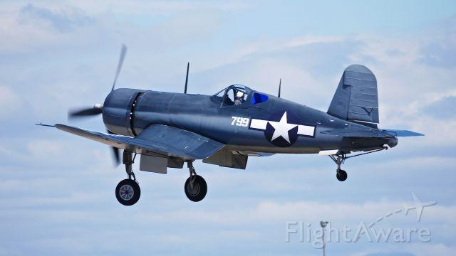 N83782 — - Planes of Fames Chance Vought F4U-1A Corsair (Ser#3884 / BuNo 17799) at SkyFair 7.22.17.