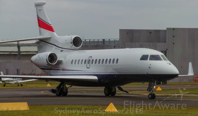 Dassault Falcon 7X (M-GMKM) - M-GMKM Taxiing To The Hanger After Arriving on RWY11C