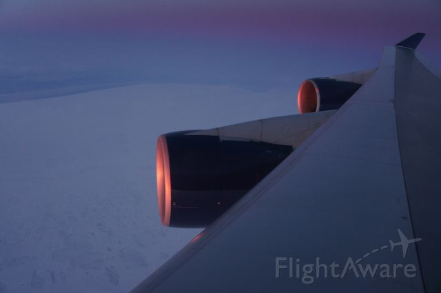 Boeing 747-200 — - Flying an arctic route from DTW to NGO.