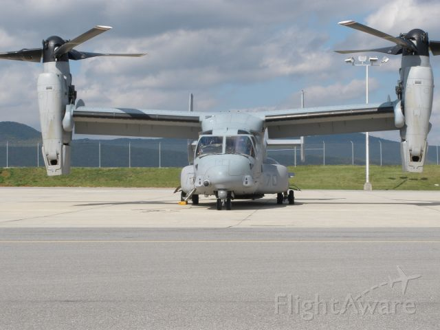 Bell V-22 Osprey (CRK21) - Pax.River V-22 that stopped in for fuel on 10/21/2008