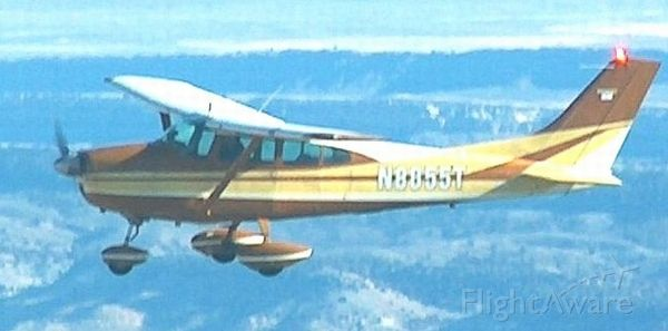 Cessna Skylane (N8855T) - Enroute in Wyoming, time and place unknown. Original factory paint scheme.