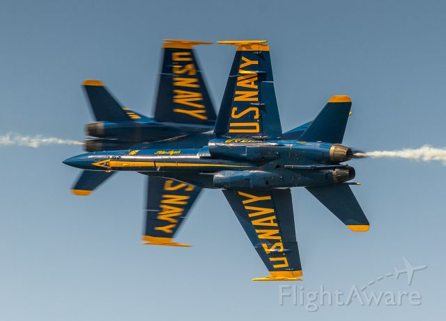 McDonnell Douglas FA-18 Hornet — - The Blue Angels perform at the New York Airshow 2019
