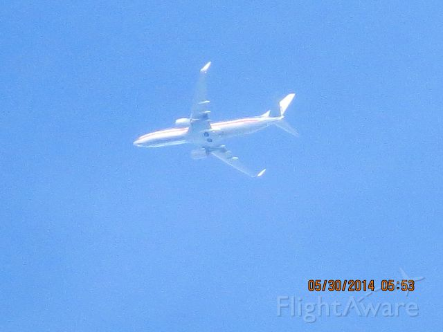 Boeing 737-800 (N878NN) - AMERICAN FLIGHT 2270 FROM DFW TO DCA. 30,975 FEET OVER BAXTER SRPRINGS KANSAS.