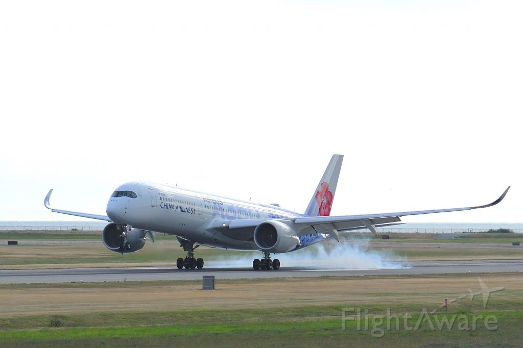 Airbus A350-900 (B-18918) - China Airlines' 14th and final A350-900XWB, B-18918, in special joint Airbus carbon-fiber livery.