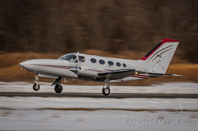 Cessna Chancellor (N429RC) - Cessna 414A N429RC taking off from KLOM during the Winter of 2021.