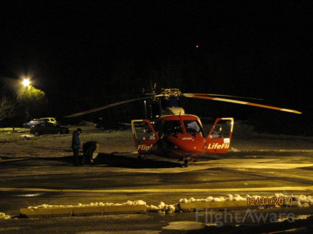 Sikorsky S-76 (C-GIMN) - Parked on the landing pad at South Shore Regional Hospital in Bridgewater NS.Dec 31,2010