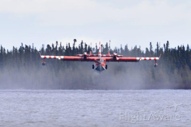 Canadair CL-41 Tutor (C-FOFI) - practicing at Gosling Lake