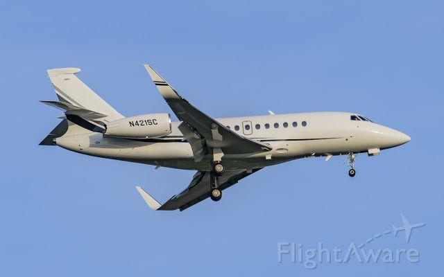 Dassault Falcon 2000 (N421SC) - Runway 02L arrival @KDPA.