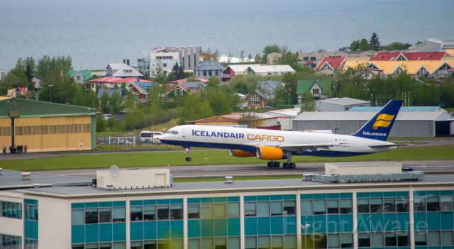 Boeing 757-200 (TF-FIH) - Reykjavik Iceland flight day 29th May 2014. Short takeoff by Icelandair Cargo from Reykjavik airport.