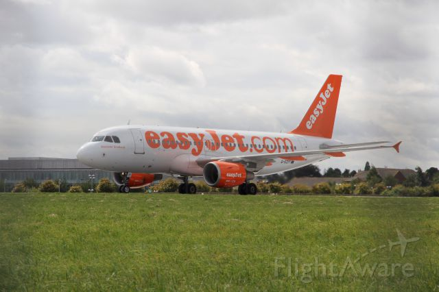 Airbus A320 (GEZYIT) - EasyJet Discover Scotland arriving at London Southend Airport