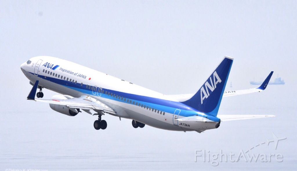 Boeing 737-700 (JA73AN) - All Nippon Airways. Boeing 737-800.<br /><br />Chubu Centrair International Airport on Apr.9.2016.Nikon D7200. SIGMA Contemporary. Posted via the iPhone 6. #aviationphotography #airplanephotography