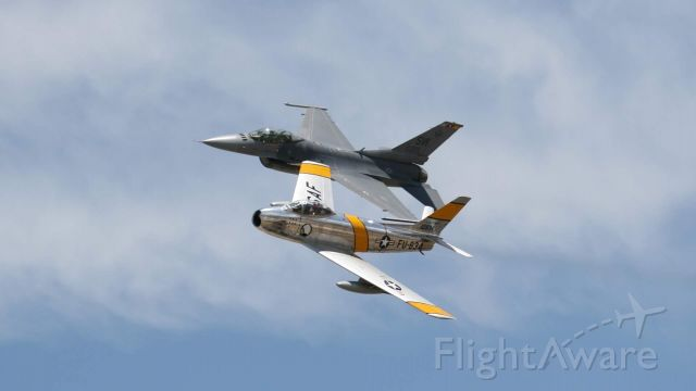 North American F-86 Sabre (FZA834) - Heritage flight at Grand Junction, CO July 27 2019