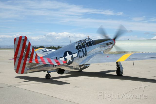 North American P-51 Mustang (NL251MX) - Collings Foundation visit to Moffett Federal Airfield 2010.