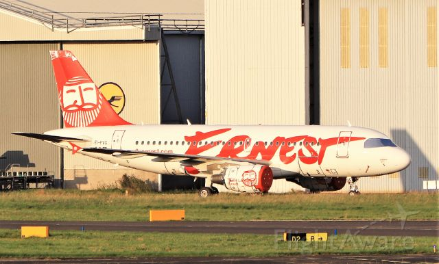 Airbus A319 (EI-FVG) - ernest a319-111 ei-fvg in the evening sun at shannon 18/9/20.