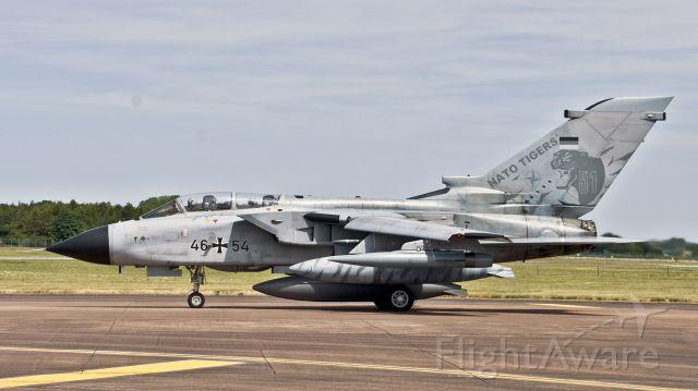 PANAVIA Tornado (GAF4654) - German Air Force Panavia Tornado GR4 GAF4654 about to depart RAIT RAF Fairford - 17th July 2017.