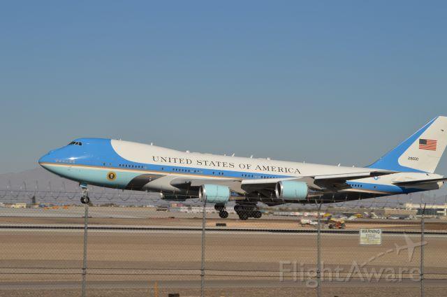 BOEING 747-300 — - Airforce one Las Vegas visit Nov 21 2014