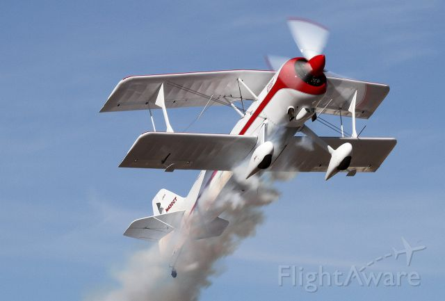 N450CT — - Pitts Monster Take-off with smoke at Coolidge, AZ