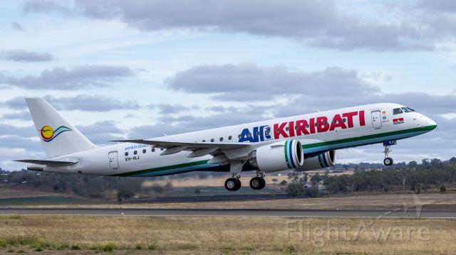Embraer ERJ-190 (VH-IKJ) - Air Kiribati E190-E2 departing Toowoomba Wellcamp Airport for Brisbane Friday 22-05-2020