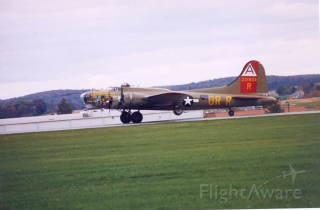 Boeing B-17 Flying Fortress — - Saw these aircraft as thy were preparing to leave Westminster, Md after a weekend airshow.