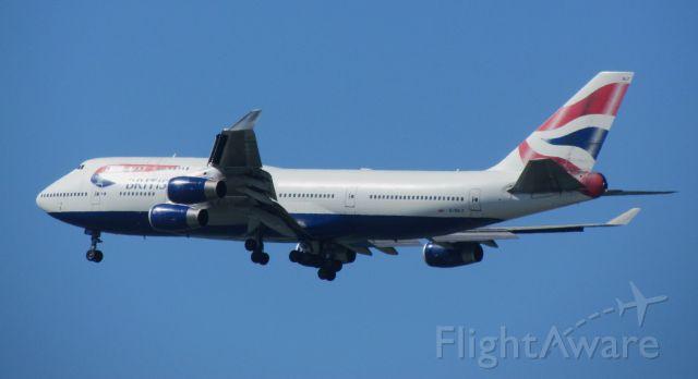 Boeing 747-400 (G-BNLF) - BAW # 287, Arrival SFO, 28L, 07-22-2012