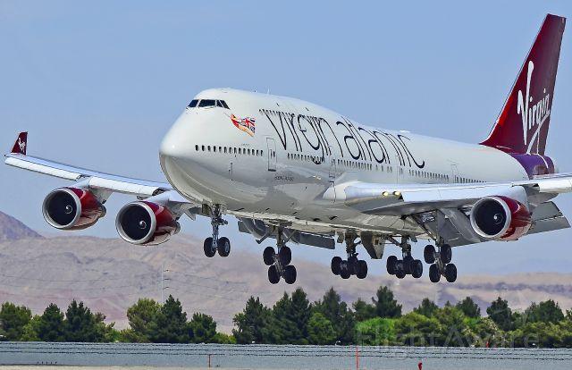 """Boeing 747-400 (G-VAST) - Virgin Atlantic Airways Boeing 747-41R G-VAST (cn 28757/1117) """"Ladybird""""    Las Vegas - McCarran International (LAS / KLAS)  USA - Nevada, May 26, 2011  Photo: Tomás Del Coro"""