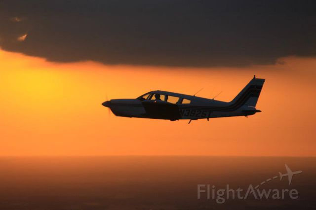 Piper Cherokee (N3925T) - At Dusk over Winter Haven Florida