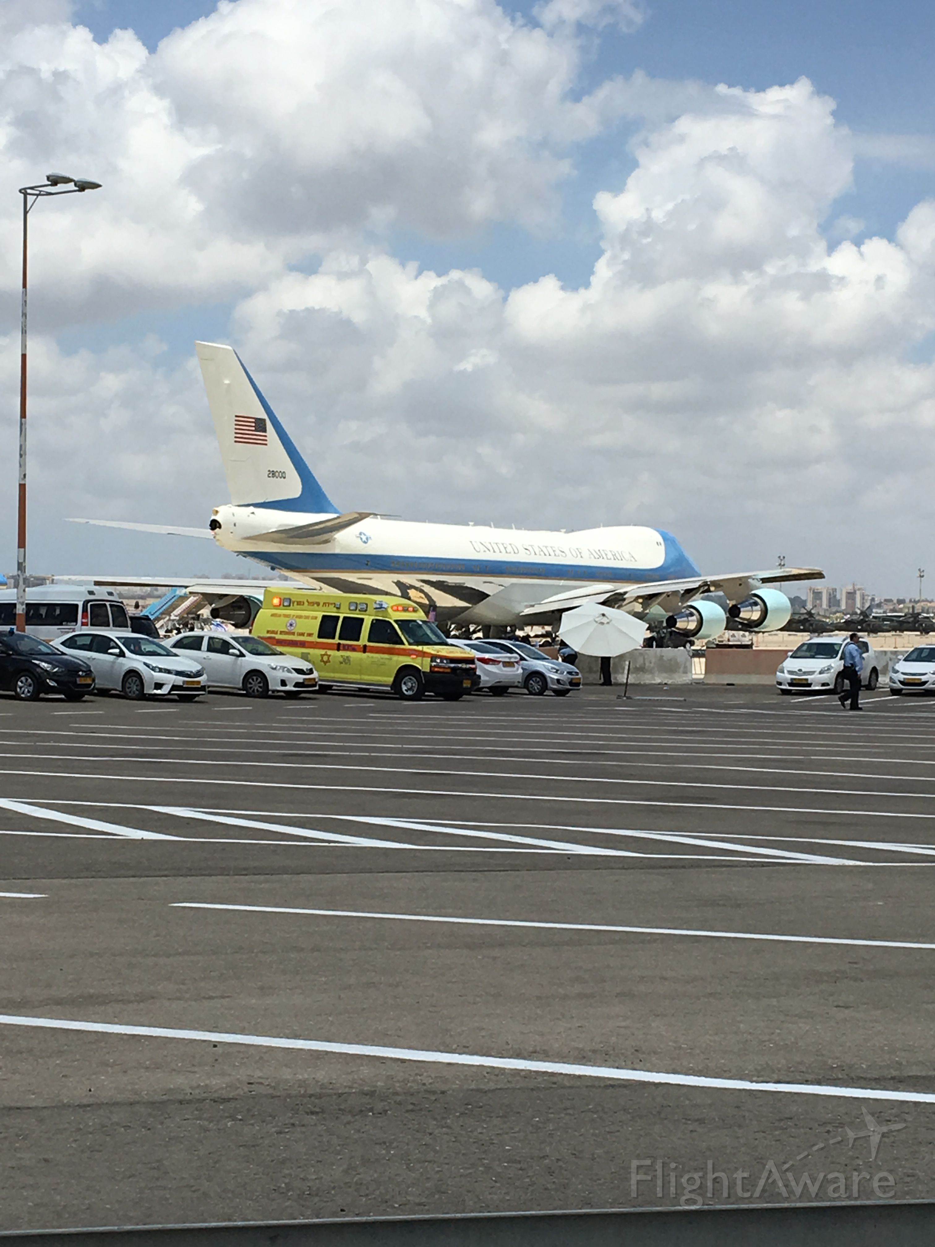 28000 — - Air Force 1, on the ground at Ben-Gurion Airport on May 23rd, 2017