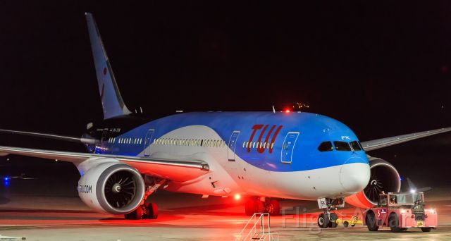 Boeing 787-8 (PH-TFK) - Tui dream liner being push back for departure.