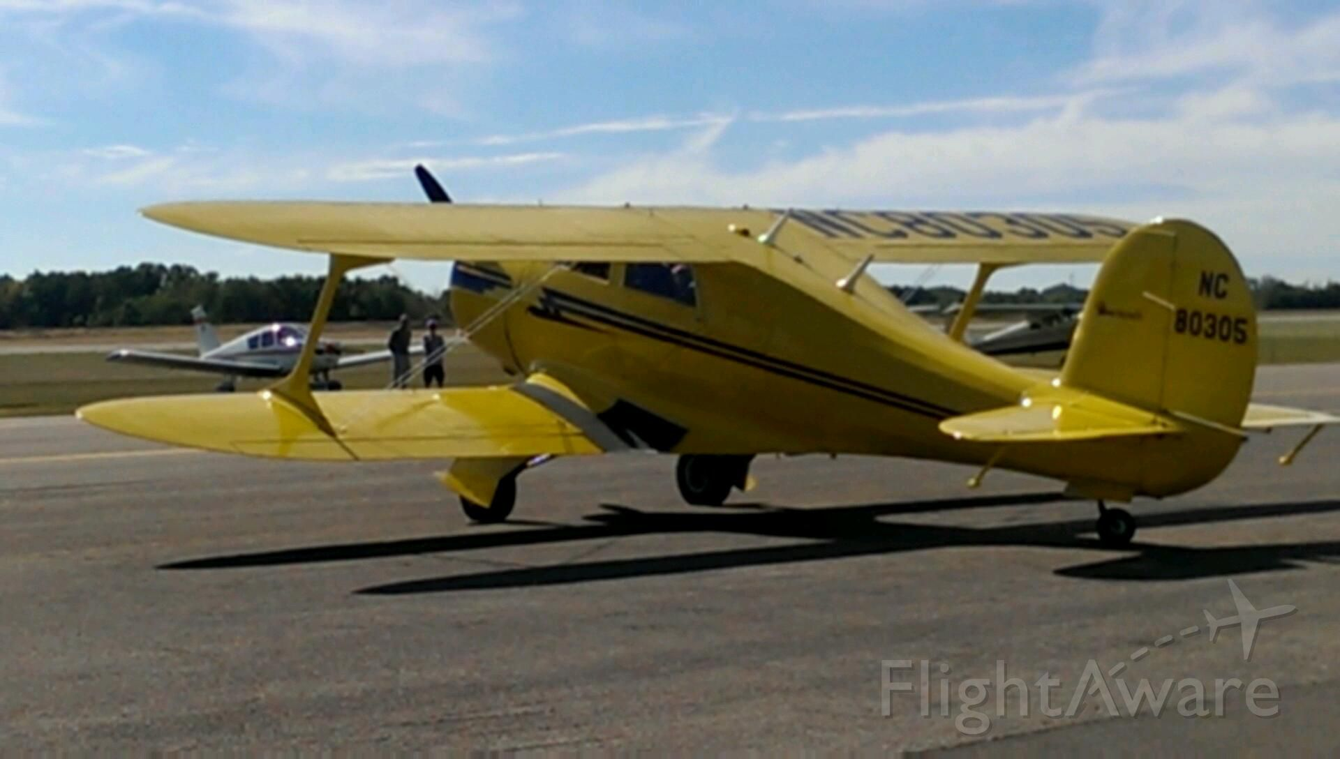— — - Beechcraft Staggerwing, original home: John Wayne Airport, now: Ohio
