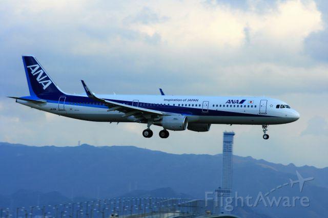 Airbus A321 (JA113A) - 24L降りで来たA321<br />JA113Aは、就航2日目でした