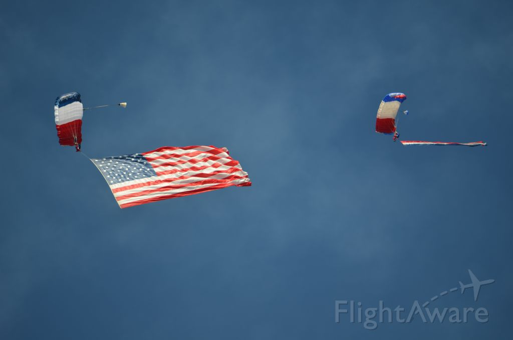 — — - EAA 2011 carrying the colors.