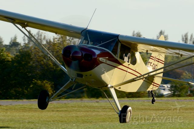 Piper PA-20 Pacer (C-FGAG) - crosswind touch and go Guelph Ontario