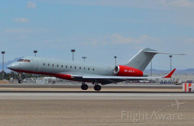 Bombardier Global Express (HB-JEH) - One of the hundreds of visitors for the Fight of the Century!